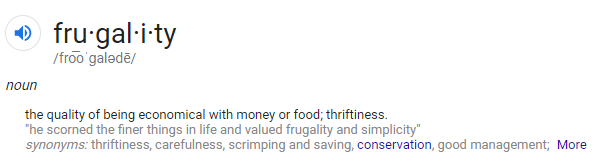 Frugal-Definition