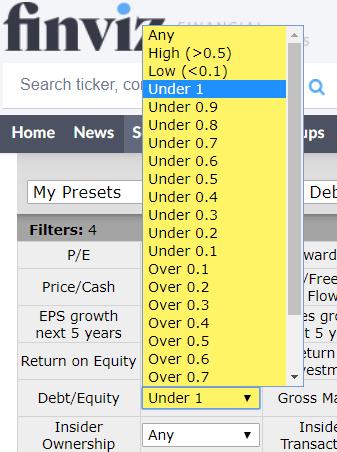 Finviz-Debt-Filter