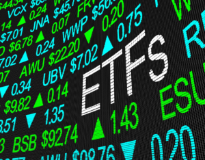 ETFs Exchange Traded Funds Stock Market Investment in 3d Illustration