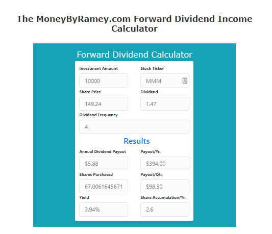 MMM Dividend Income
