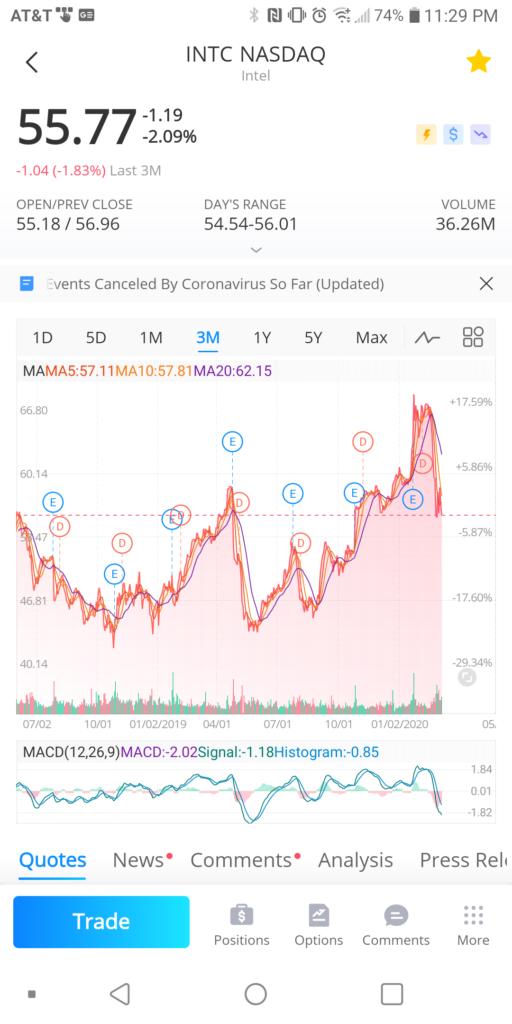 Webull Individual Stock Summary