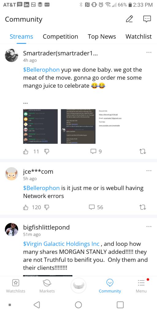 Webull Community Stream