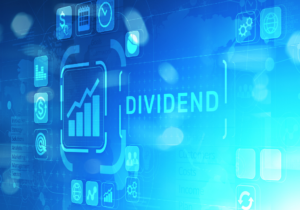Finance Icons with a blue background